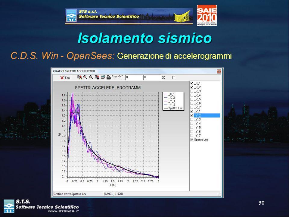 50 Isolamento sismico C.D.S. Win - OpenSees: Generazione di accelerogrammi
