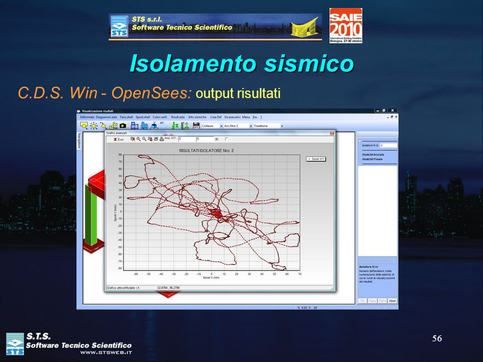 56 Isolamento sismico C.D.S. Win - OpenSees: output risultati