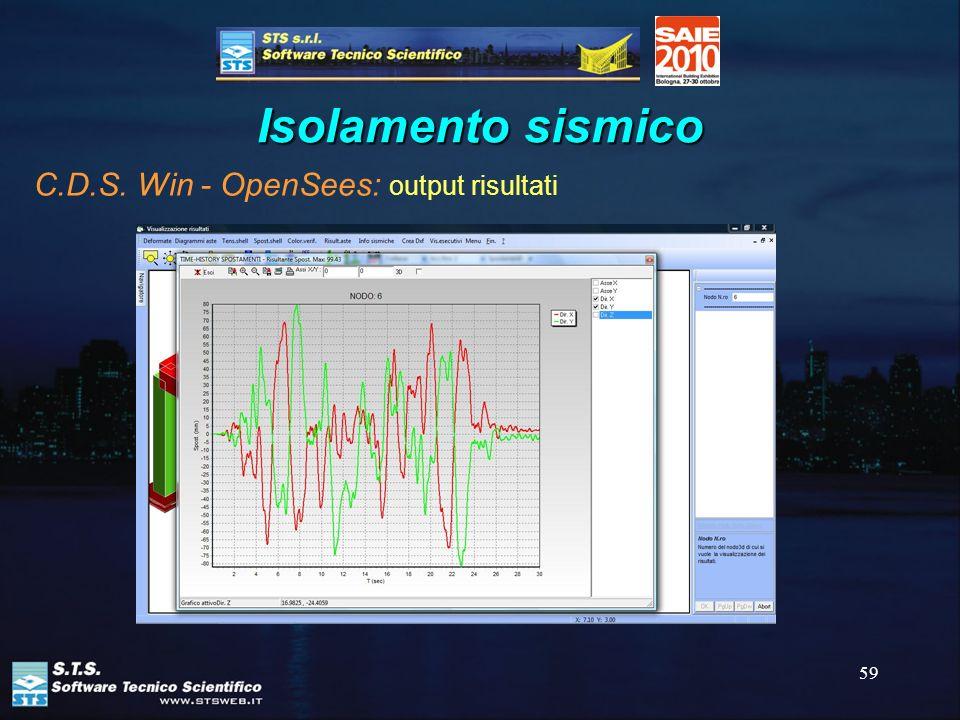 59 Isolamento sismico C.D.S. Win - OpenSees: output risultati
