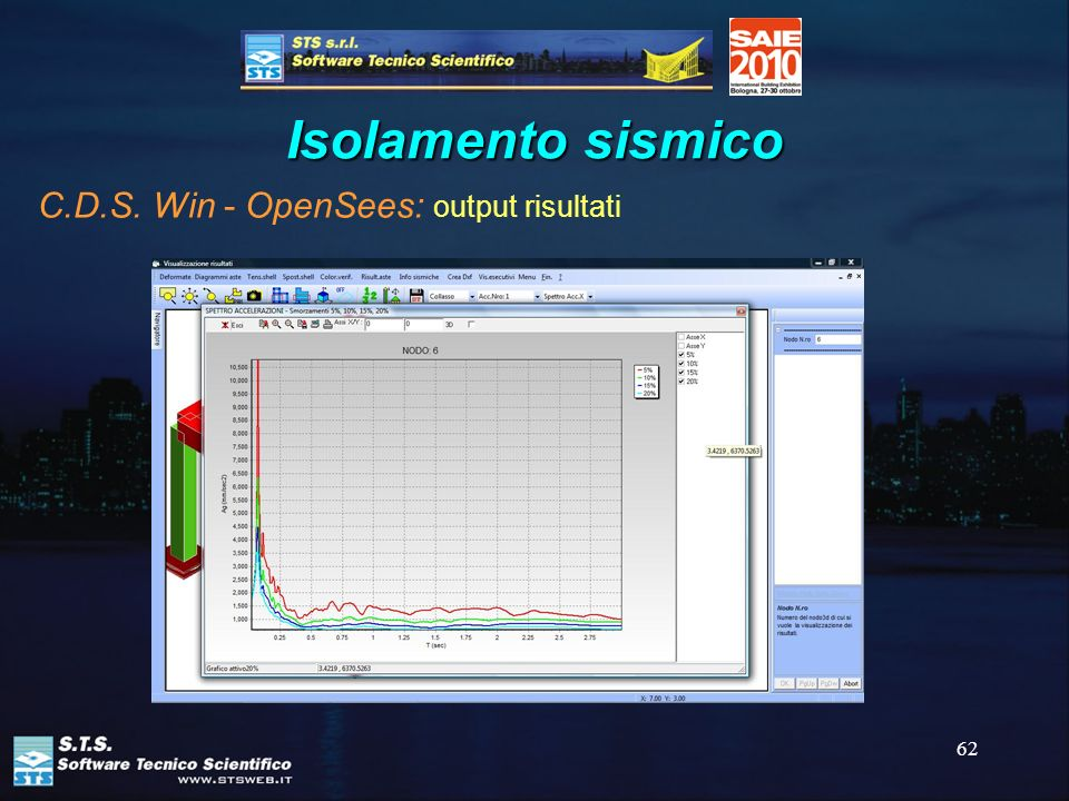62 Isolamento sismico C.D.S. Win - OpenSees: output risultati