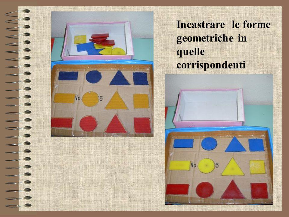 Incastrare le forme geometriche in quelle corrispondenti