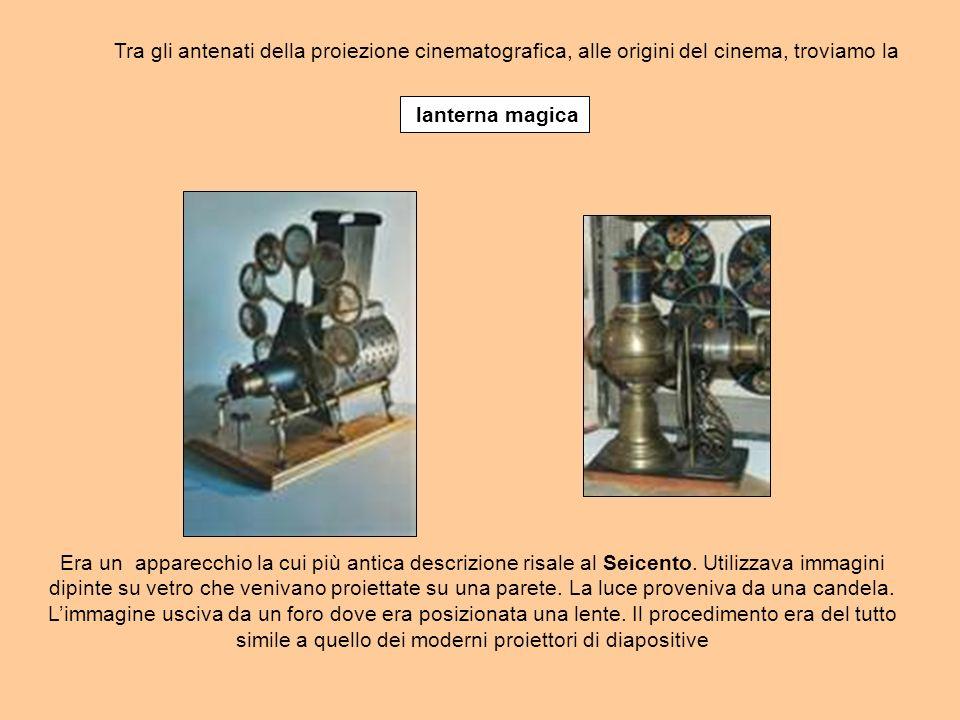 lanterna magica Era un apparecchio la cui più antica descrizione risale al Seicento.