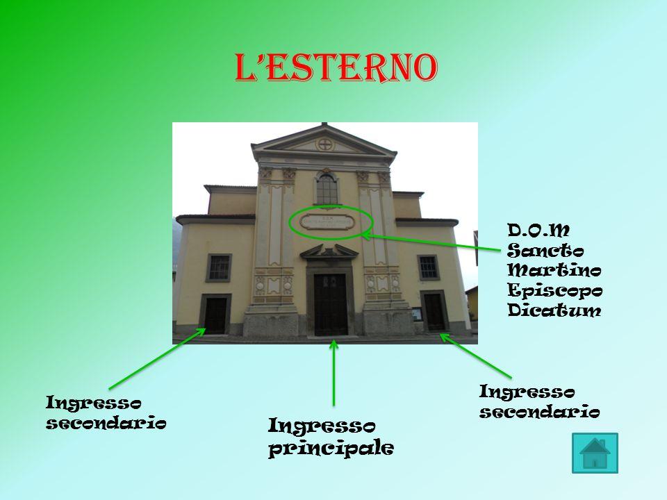 LESTERNO Ingresso secondario Ingresso principale D.O.M Sancto Martino Episcopo Dicatum