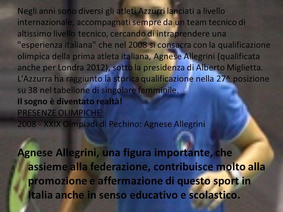 Agnese Allegrini, una figura importante, che assieme alla federazione, contribuisce molto alla promozione e affermazione di questo sport in Italia anche in senso educativo e scolastico.