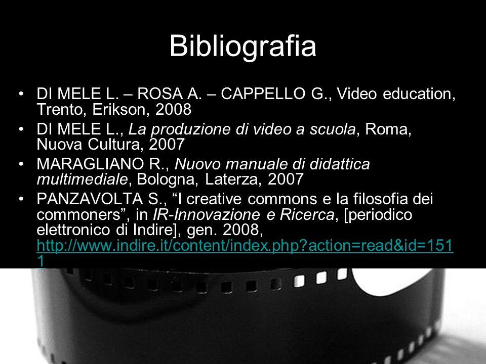 Bibliografia DI MELE L.– ROSA A.