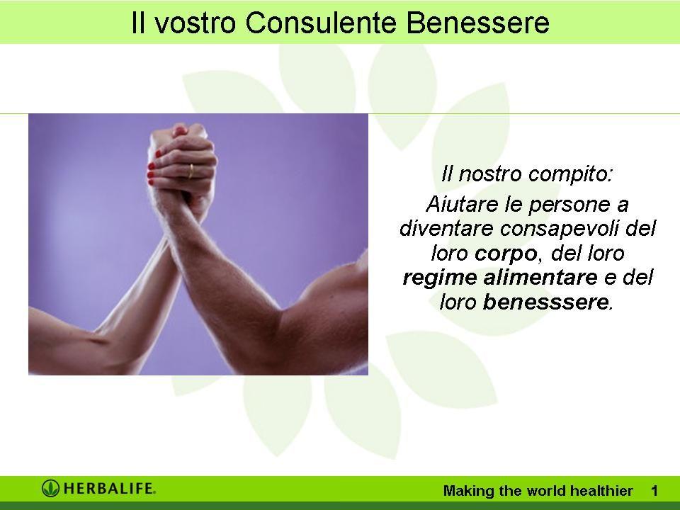 Il nostro compito: Aiutare le persone a diventare consapevoli del loro corpo, del loro regime alimentare e del loro benesssere.