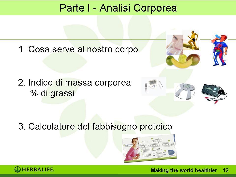Parte I - Analisi Corporea Making the world healthier 11