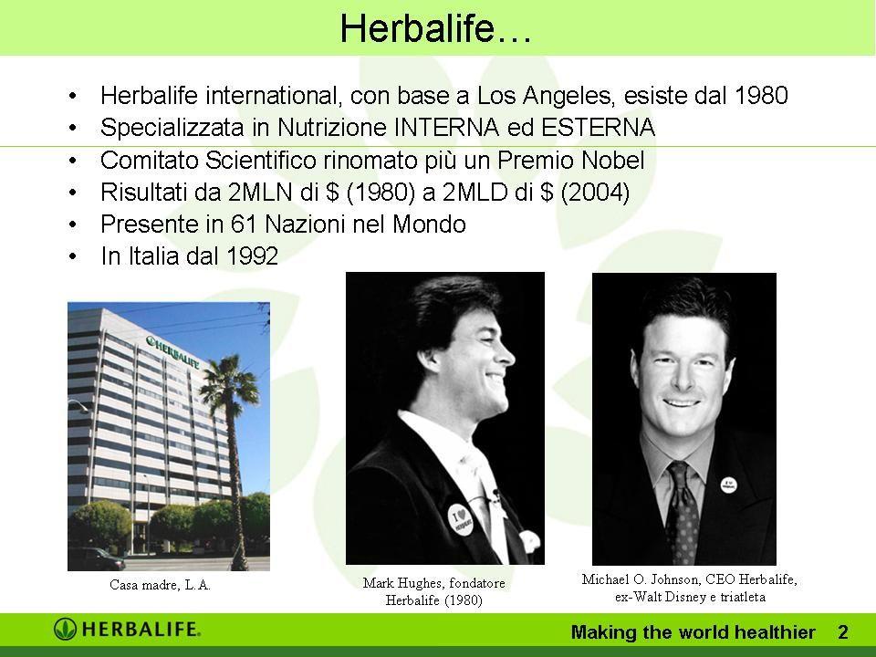Herbalife… Mark Hughes, fondatore Herbalife (1980) Michael O.