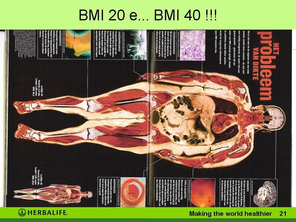 BMI 20 e... BMI 40 !!! Making the world healthier 20