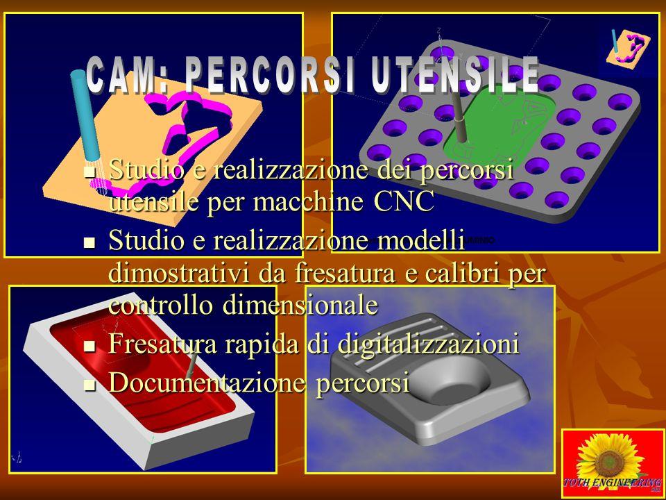 Studio e realizzazione dei percorsi utensile per macchine CNC Studio e realizzazione dei percorsi utensile per macchine CNC Studio e realizzazione mod