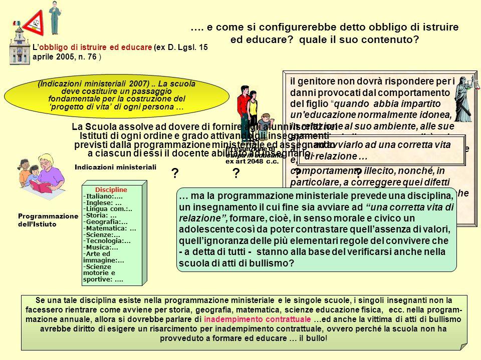 Presunzione di culpa in educando ex art 2048 c.c. il genitore non dovrà rispondere per i danni provocati dal comportamento del figlio quando abbia imp