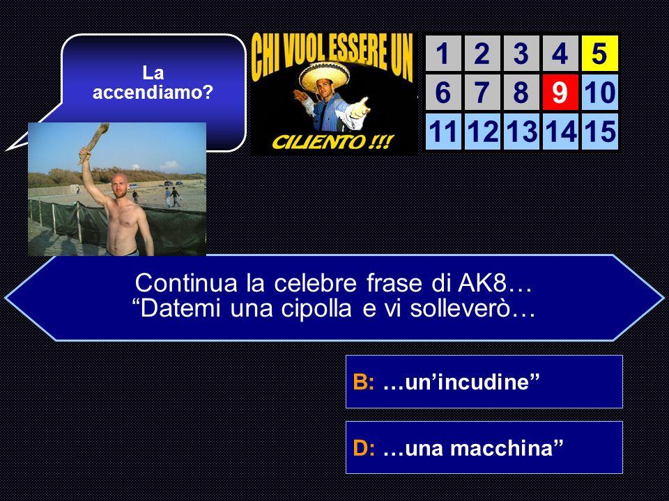 A: …il mondoB: …unincudine C: …un macignoD: …una macchina Bravo!!! Era difficile AIUTO DEL AIUTO DEL COMPUTER 12345 678910 1112131415 Continua la cele