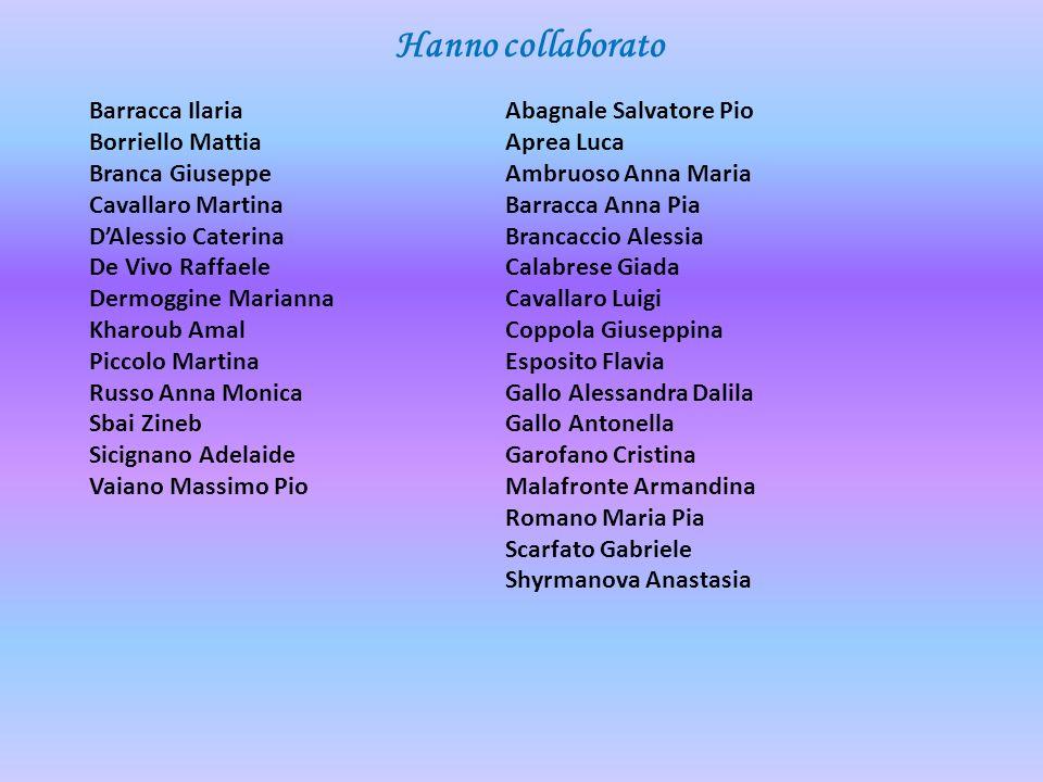Barracca Ilaria Borriello Mattia Branca Giuseppe Cavallaro Martina DAlessio Caterina De Vivo Raffaele Dermoggine Marianna Kharoub Amal Piccolo Martina