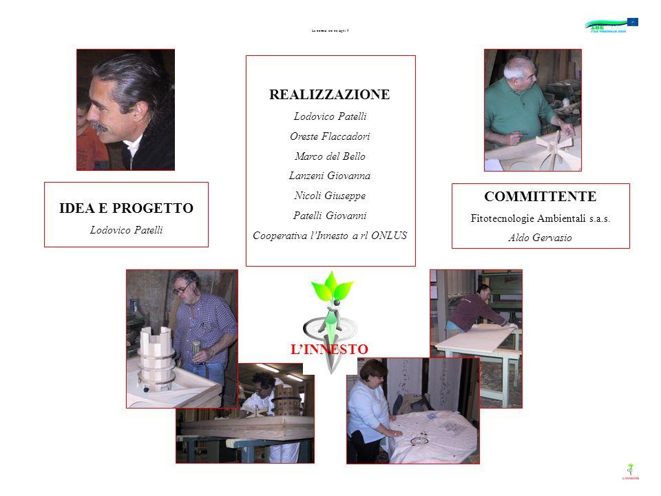 La trottola dei tre laghi 9 COMMITTENTE Fitotecnologie Ambientali s.a.s. Aldo Gervasio IDEA E PROGETTO Lodovico Patelli REALIZZAZIONE Lodovico Patelli