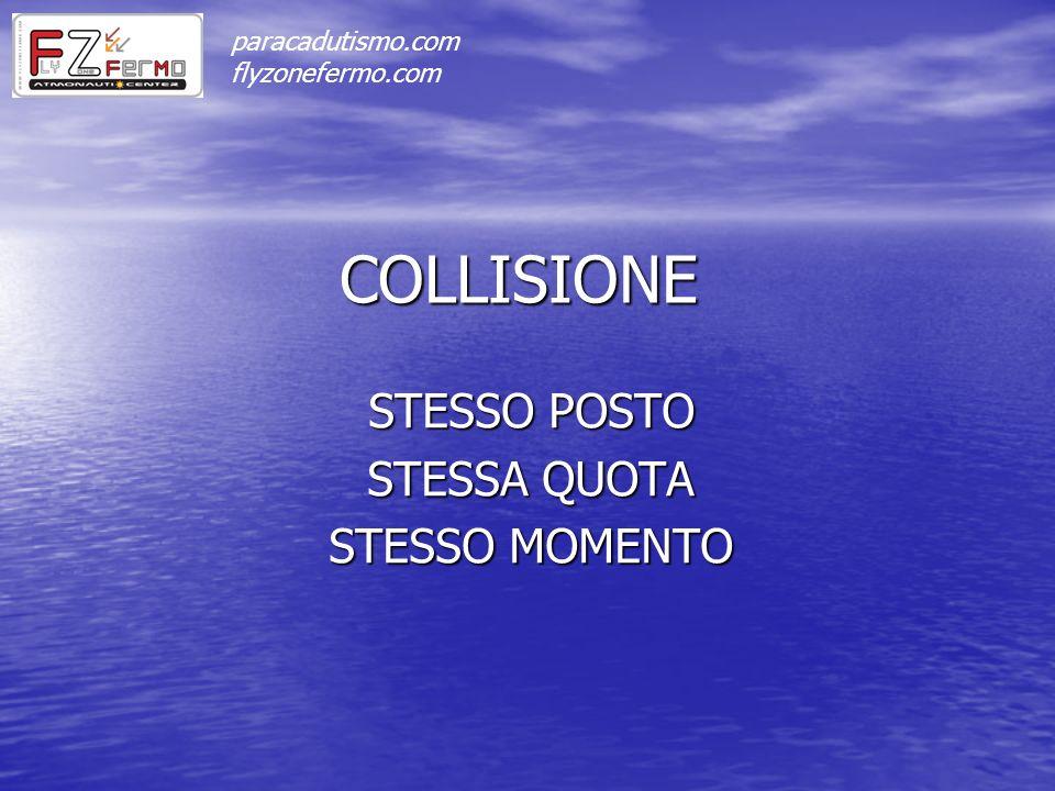 COLLISIONE STESSO POSTO STESSA QUOTA STESSO MOMENTO paracadutismo.com flyzonefermo.com
