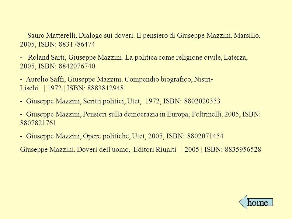 http://www.cronologia.it/storia/biografie/mazzini.htm http://www.cronologia.it/storia/biografie/mazzini2.htm http://www.liberliber.it/biblioteca/m/mazzini http://it.wikipedia.org/wiki/Giuseppe_Mazzini http://www.italiadonna.it/public/percorsi/biografie/m005.html http://copernico2000.calvino.ge.it/mazzini.html http://biografie.leonardo.it/biografia.htm?BioID=190&biografia=Giuseppe+Mazzini http://www.comune.udine.it/opencms/opencms/release/ComuneUdine/cittavicina/istruzione/ scuolapiedi http://www.mazzini2005.it/ http://www.movimentocooperativo.it/index.php?id=583 http://web.tiscalinet.it/mazzinihouse/giuseppe_mazzini1.html http://www.splash.it/cultura/storia/19-giuseppe_mazzini_e_la_giovine_italia.html