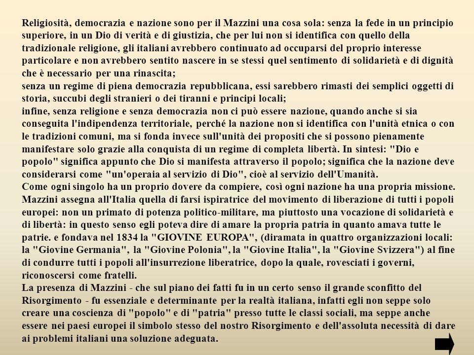 La propaganda mazziniana ebbe ampia diffusione in Toscana, negli Abruzzi, in Sicilia, ma soprattutto in Piemonte e in Liguria, dove raccolse vaste adesioni, specialmente negli ambiti militari degli ufficiali inferiori e dei sottufficiali.