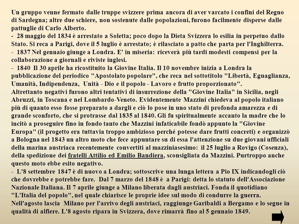 - Il 9 febbraio sempre del 1849, è proclamata la Repubblica Romana.