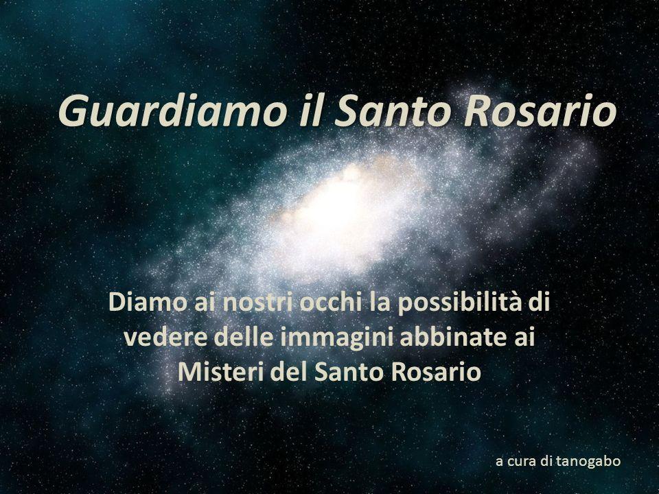 2° Mistero -L Ascensione di Gesù Cristo al Cielo Il Signore Gesù dopo aver loro parlato , alzate le mani al cielo, li benedisse.