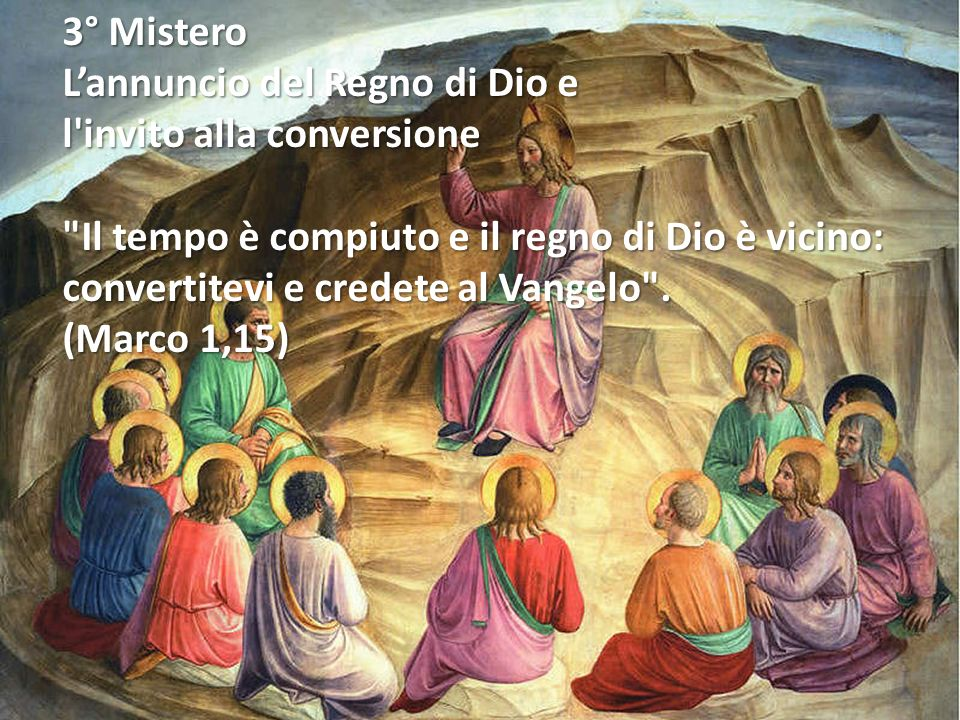 2° Mistero Le nozze di Cana La madre di Gesù gli dice: