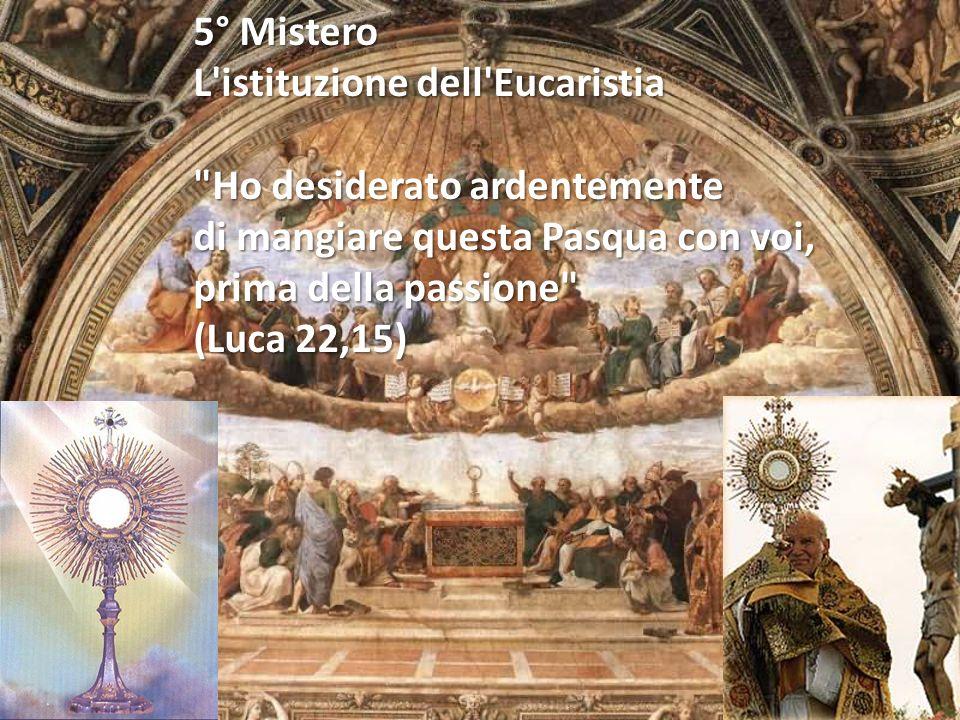 4° Mistero La trasfigurazione di Gesù sul monte Tabor