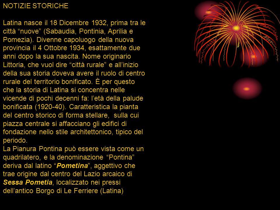 TERRITORIO ED ECONOMIA La provincia di Latina, si estende tra la costa Tirrenica ed una serie di alture: monti Lepini, Ausoni e Aurunci. La maggior pa