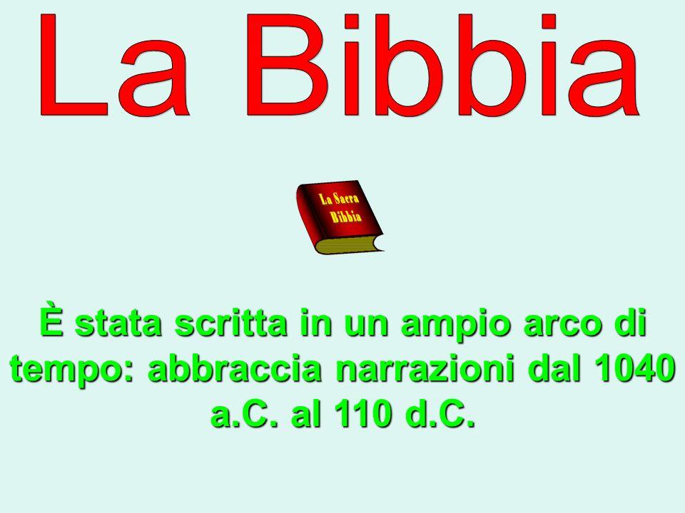 È stata scritta in un ampio arco di tempo: abbraccia narrazioni dal 1040 a.C. al 110 d.C.