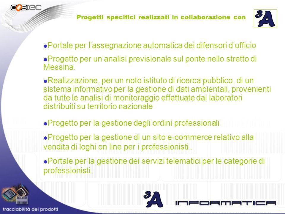 Portale per lassegnazione automatica dei difensori dufficio Progetto per unanalisi previsionale sul ponte nello stretto di Messina. Realizzazione, per