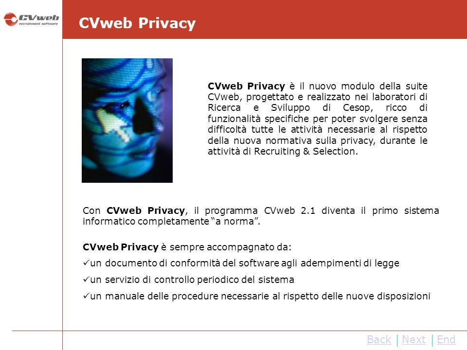 NextEnd Con CVweb Privacy, il programma CVweb 2.1 diventa il primo sistema informatico completamente a norma.
