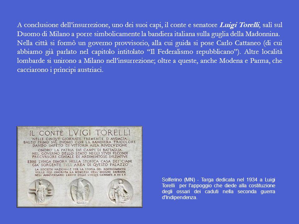 Le Cinque giornate di Milano Il 13 marzo 1848 il popolo di Vienna insorse, reclamando la Costituzione e la cacciata del retrogrado cancelliere Mettern