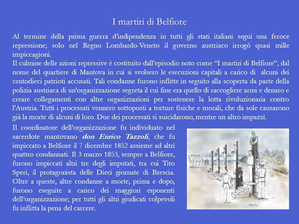 Le Dieci giornate di Brescia Il 23 marzo 1849, approfittando del fatto che lesercito austriaco era impegnato a Novara nella battaglia contro i Piemont