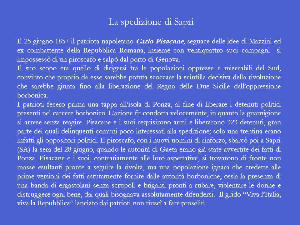 Lattentato di Felice Orsini Il 14 gennaio 1858 il rivoluzionario romagnolo Felice Orsini, ex carbonaro e mazziniano, si recò a Parigi con un gruppetto
