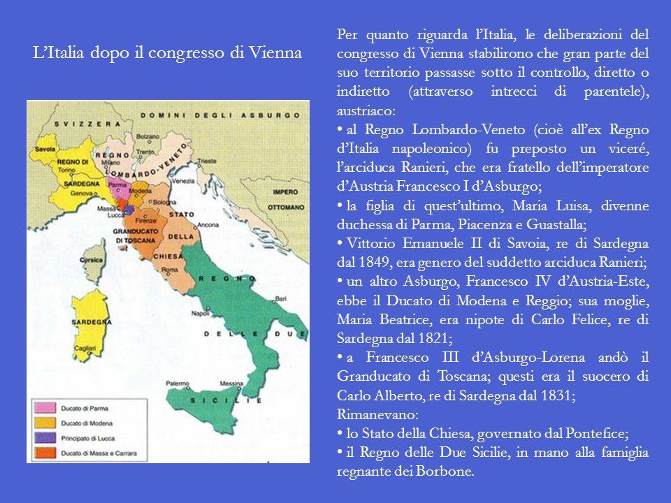 Nel 1815, mentre erano ancora in corso i lavori del congresso, Napoleone riuscì a fuggire dallisola dElba e a riconquistare il trono. Il congresso fu