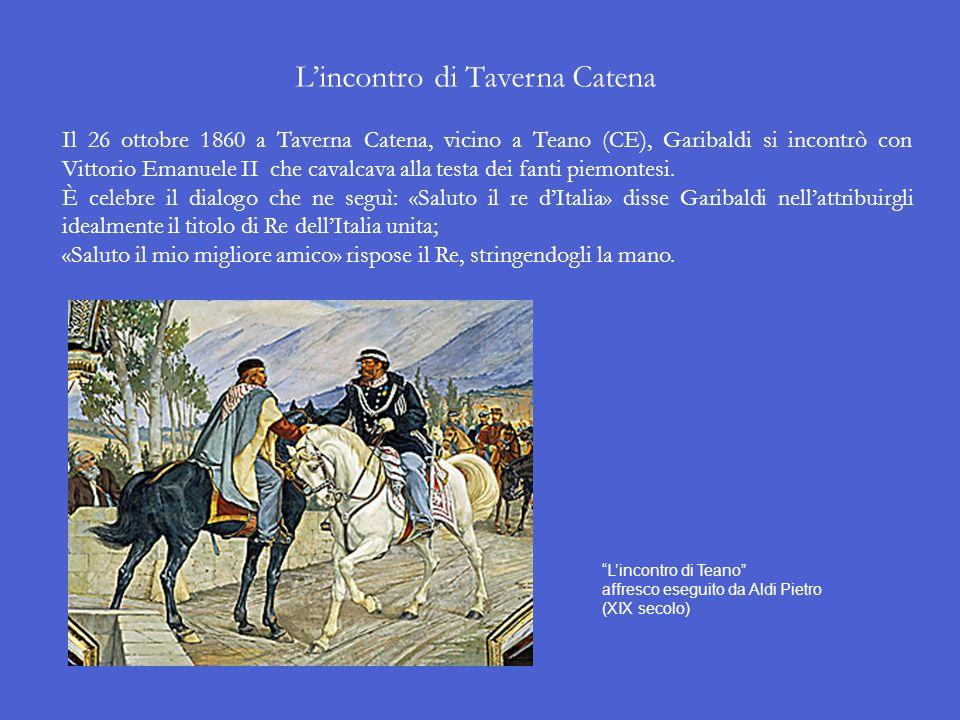 A questo punto Vittorio Emanuele II, su consiglio di Cavour, decise di intervenire con il suo esercito per appoggiare Garibaldi nella conquista delle