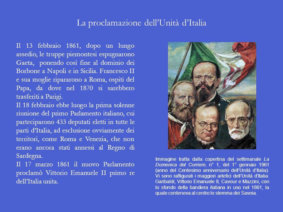 I plebisciti di Marche e Umbria Il 4 e 5 novembre 1860 si tennero i plebisciti che sancivano lannessione di Marche e Umbria al Regno di Sardegna. Gari
