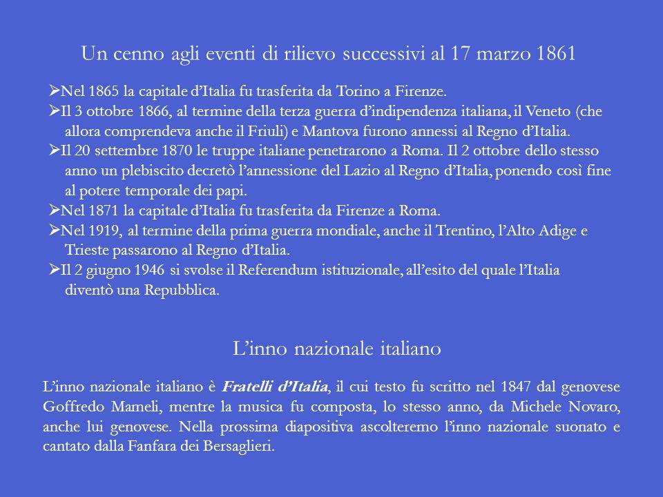 Il 13 febbraio 1861, dopo un lungo assedio, le truppe piemontesi espugnarono Gaeta, ponendo così fine al dominio dei Borbone a Napoli e in Sicilia. Fr