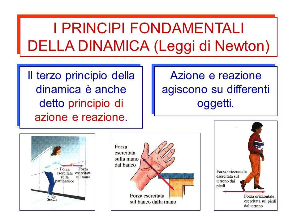 6 I PRINCIPI FONDAMENTALI DELLA DINAMICA (Leggi di Newton) I PRINCIPI FONDAMENTALI DELLA DINAMICA (Leggi di Newton) Il terzo principio della dinamica