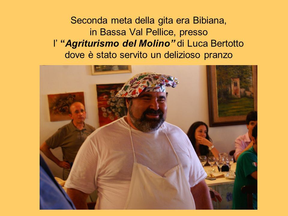 Il simpatico e bravissimo chef Luca Bertotto con la moglie grande cuoca e grande padrona di casa Lo chef Luca ha ricevuto dal presidente A.Pi.C.E.