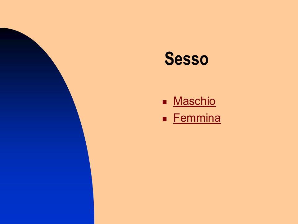 Sesso Maschio Femmina