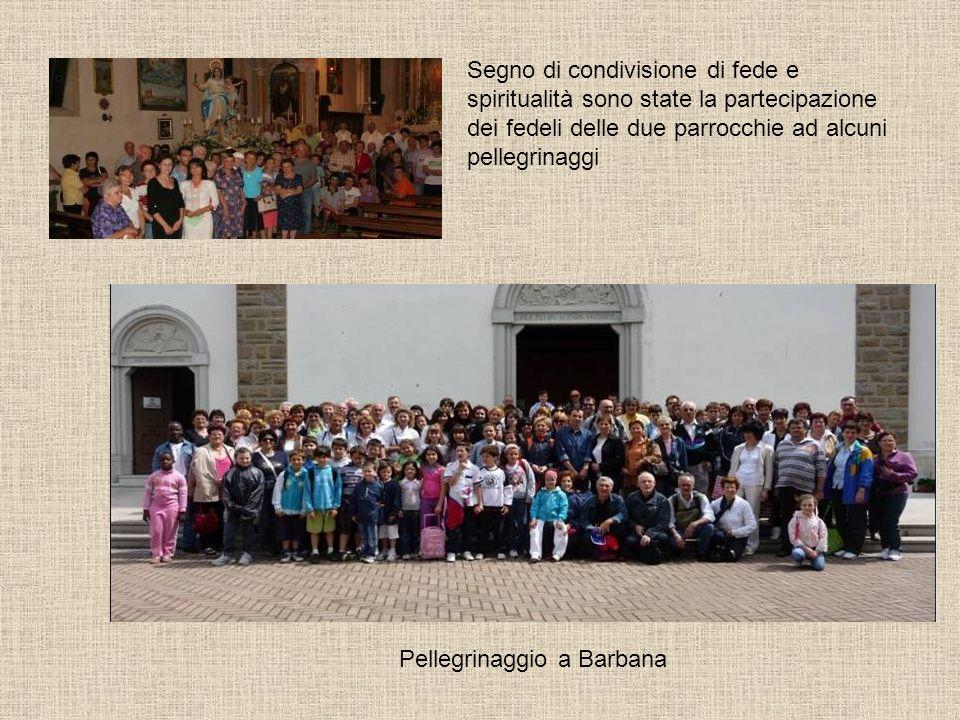 Segno di condivisione di fede e spiritualità sono state la partecipazione dei fedeli delle due parrocchie ad alcuni pellegrinaggi Pellegrinaggio a Bar