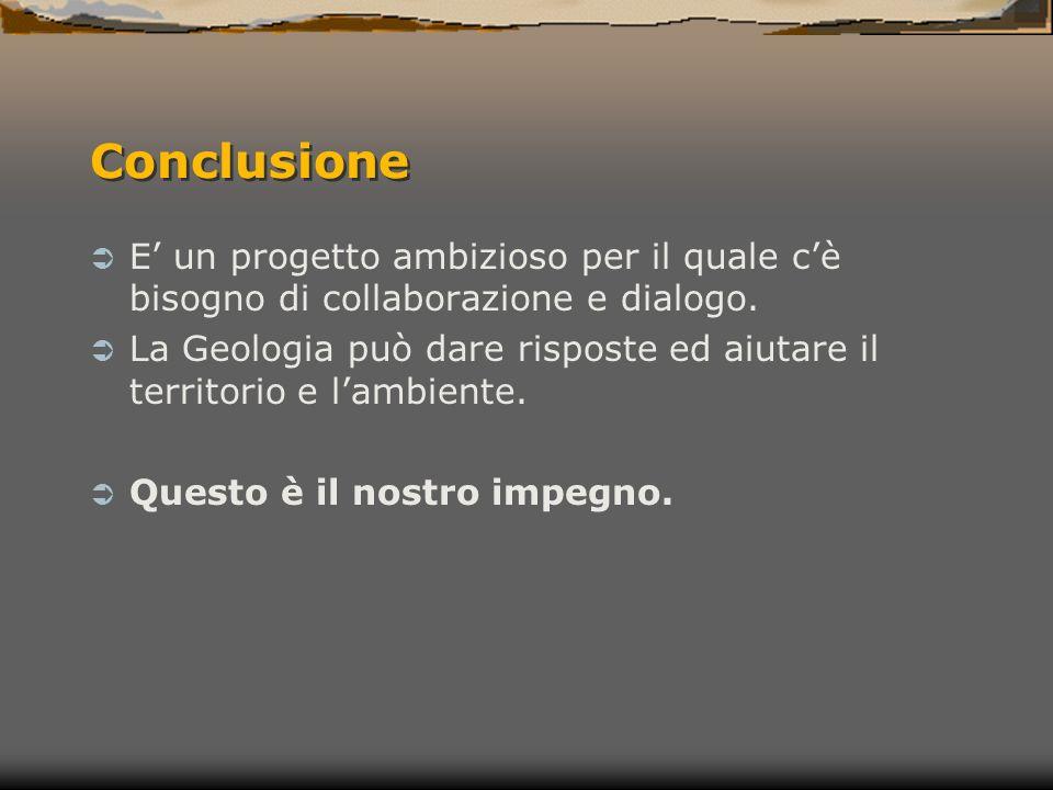 Conclusione E un progetto ambizioso per il quale cè bisogno di collaborazione e dialogo.
