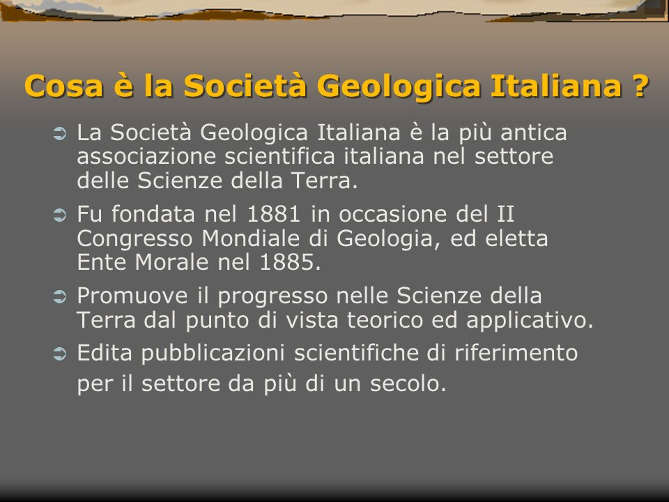 Grazie a tutti Società Geologica Italiana - Sezione Giovani Per informazioni: www.giovanigeologi.it