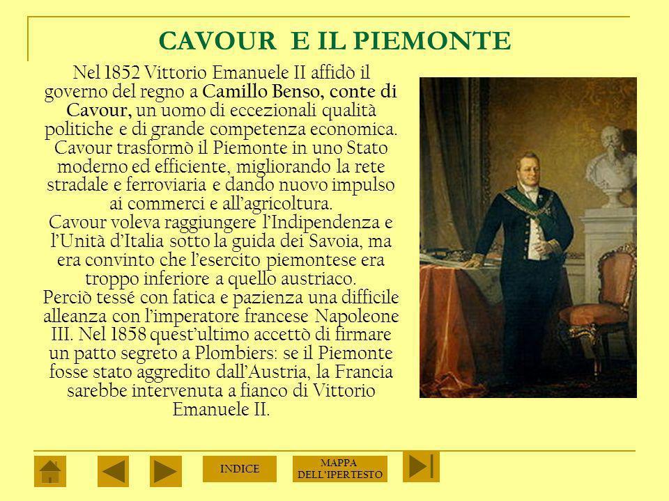 CARLO ALBERTO E VITTORIO EMANUELE II Molti patrioti erano convinti che il compito di realizzare gli obiettivi del Risorgimento spettasse al re Carlo Alberto di Savoia che governava su Piemonte, Liguria e Sardegna.