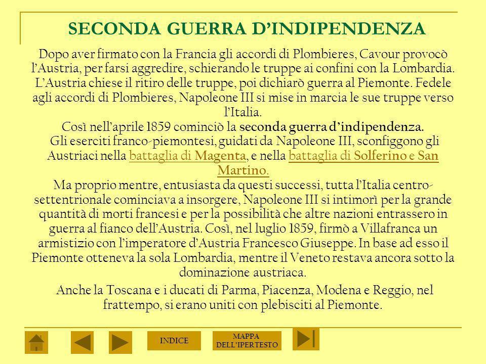 CAVOUR E IL PIEMONTE Nel 1852 Vittorio Emanuele II affidò il governo del regno a Camillo Benso, conte di Cavour, un uomo di eccezionali qualità politiche e di grande competenza economica.