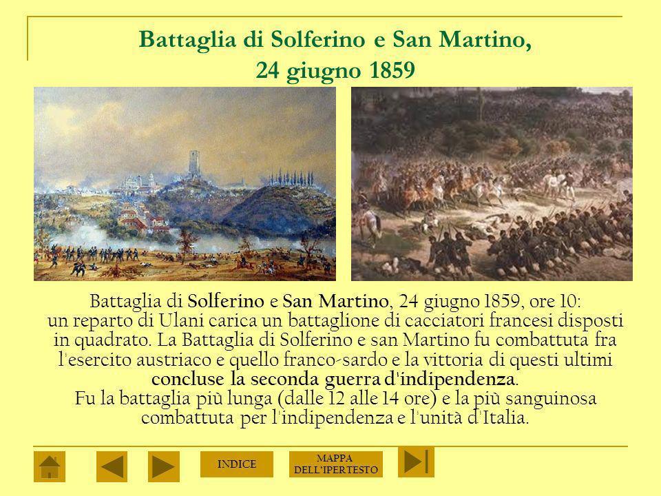 Battaglia di Magenta, 4 giugno 1859 In base agli accordi di Plombieres la Francia combatterà a fianco del Piemonte solo in caso di aggressione austriaca.