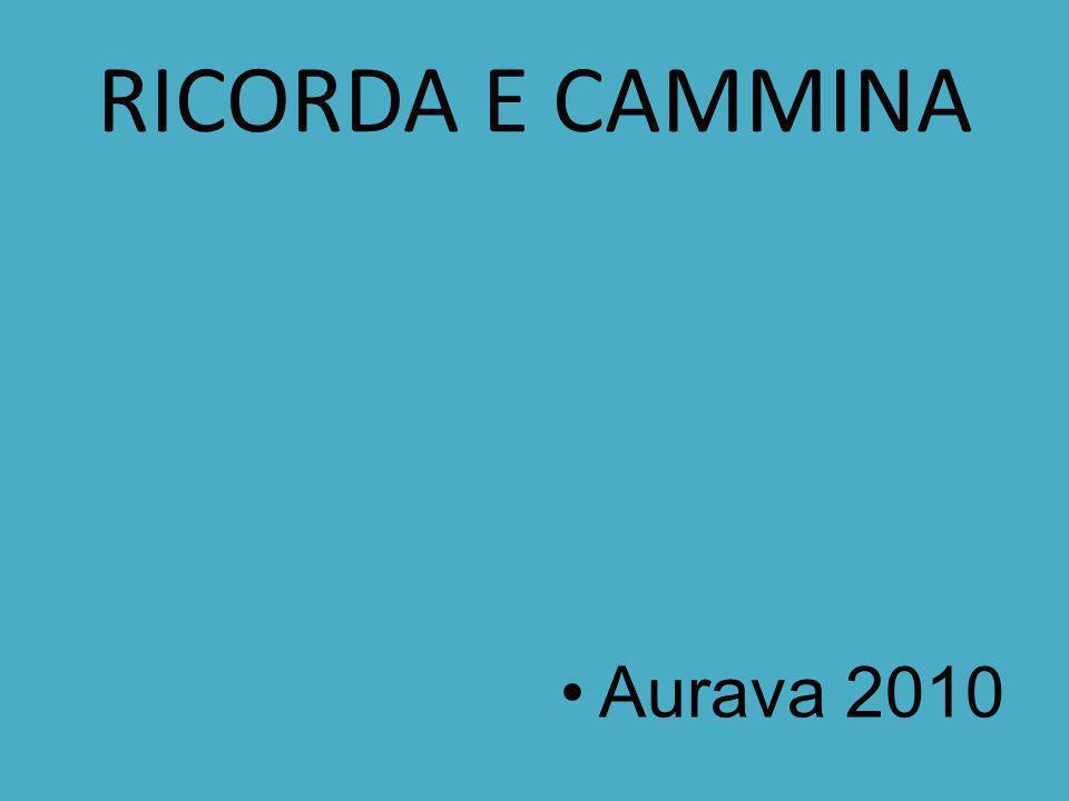 RICORDA E CAMMINA Aurava 2010