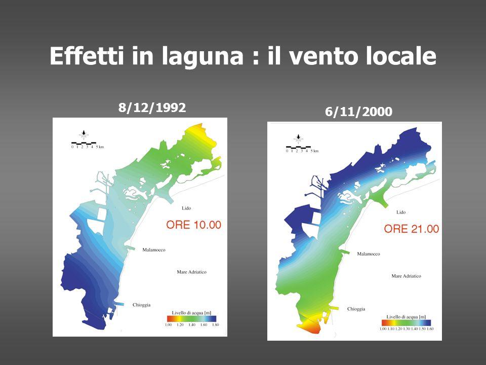 Effetti in laguna : il vento locale 8/12/1992 6/11/2000