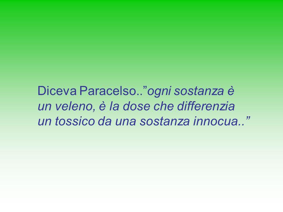 Diceva Paracelso..ogni sostanza è un veleno, è la dose che differenzia un tossico da una sostanza innocua..