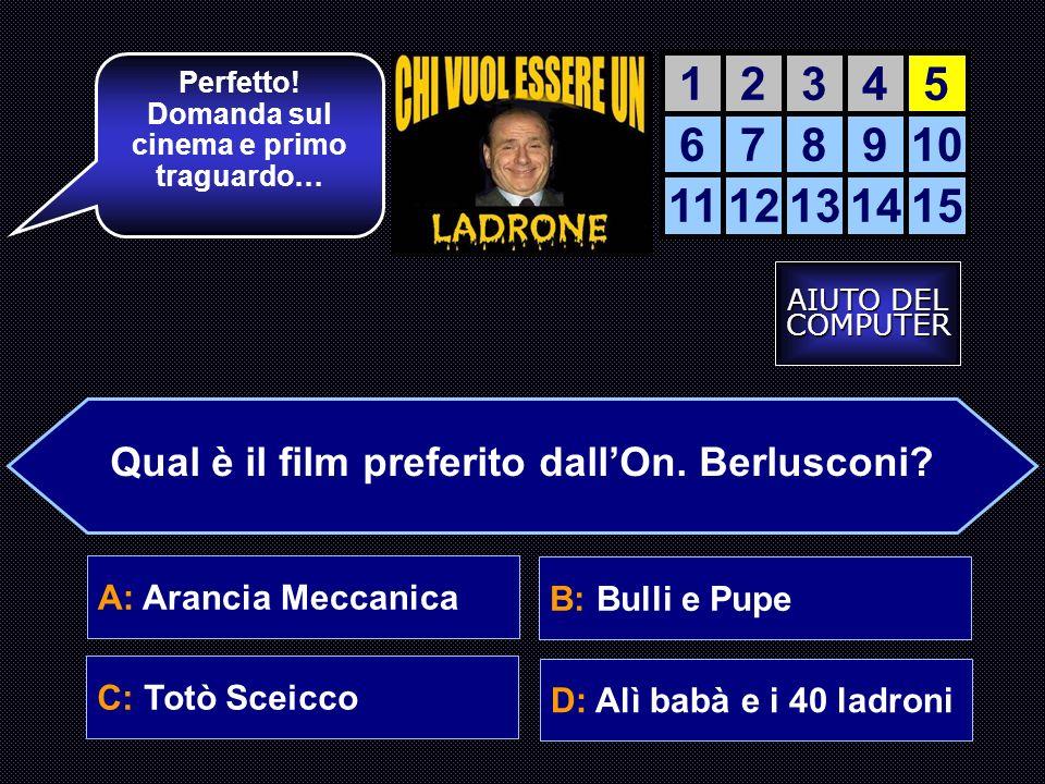 La accendiamo. 12345 678910 1112131415 Come si chiama il cane di Berlusconi.