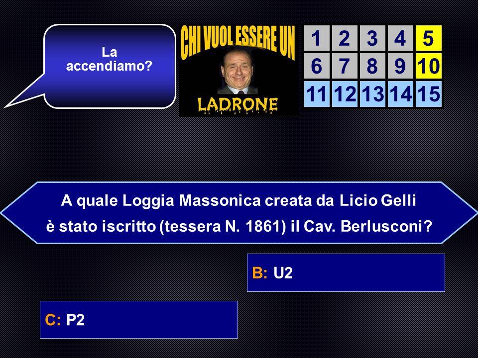 A: Gli 883B: U2 C: P2D: Equipe 84 E giusta.